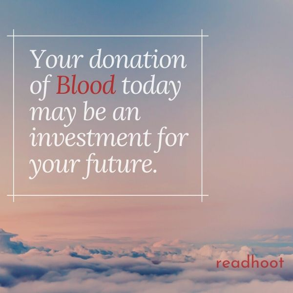 Blood Donation Slogan and Quotes