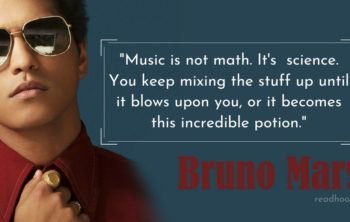 Bruno Mars Quotes and lyrics
