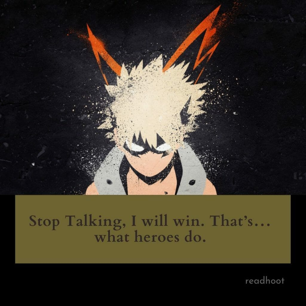 Katsuki Bakugo quotes